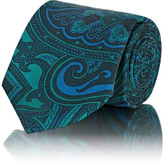Barneys New York Men's Paisley Silk Faille Necktie
