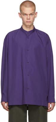 Issey Miyake Purple TC Stand Collar Shirt