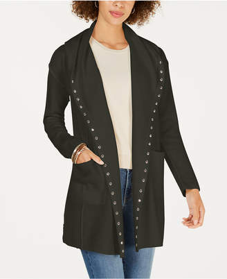 Style&Co. Style & Co Stud-Embellished Hooded Cardigan, Created for Macy's