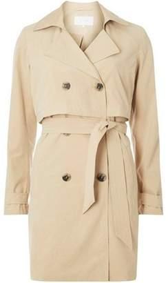 Dorothy Perkins Womens **Vila Beige Tie Waist Trench Coat