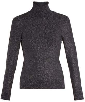 Joostricot - Roll Neck Long Sleeved Knit Sweater - Womens - Navy
