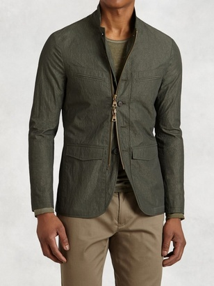 Cotton-Blend 4-Pocket Jacket $998 thestylecure.com