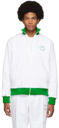Casablanca White and Green After Sports Track Jacket