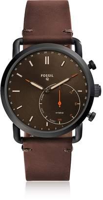 Fossil Q Commuter Dark Brown Leather Hybrid Men's Smartwatch