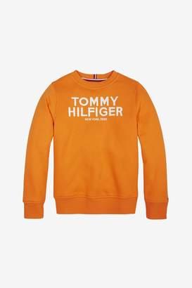 Tommy Hilfiger Boys Boys Logo Embroidered Sweatshirt - Orange