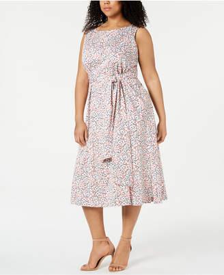 Anne Klein Plus Size A-Line Midi Dress