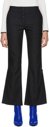 Proenza Schouler Black Stretch Flared Suiting Trousers