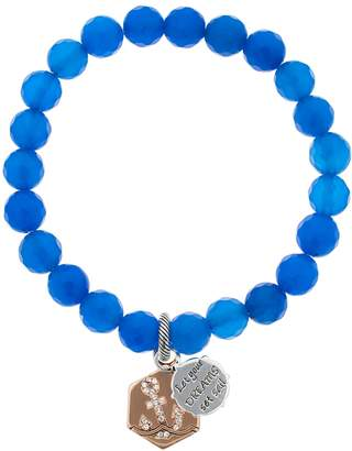 "Love This Life love this lifeSilver Plated Blue Agate ""Let Your Dreams Set Sail"" Bracelet"