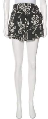 Isabel Marant Silk High-Rise Mini Shorts Black Silk High-Rise Mini Shorts