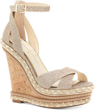 Jessica Simpson Ahnika Ankle-Strap Wedge Sandals Women's Shoes $119 thestylecure.com