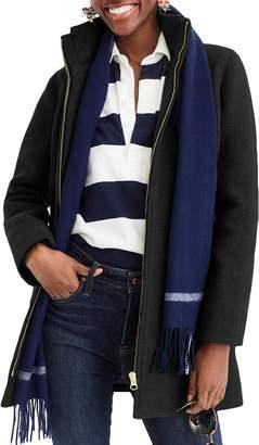 J.Crew Lodge Italian Stadium Cloth Wool Coat