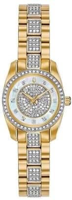 Bulova Women's Analog Quartz Swarovski Crystal Bracelet Watch, 23.5mm