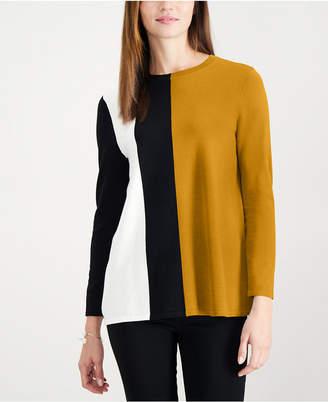 Alfani Petite Colorblocked Sweater