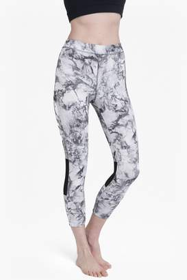 French Connection Comfort Stretch Marble Print Cropped Performance Leggings