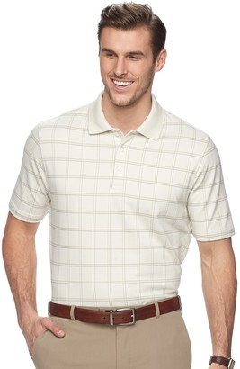 Van Heusen Big & Tall Classic-Fit Windowpane Polo