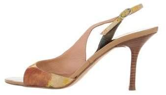 Vera Wang Printed Slingback Sandals