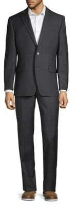 Calvin Klein Two-Piece Textured Wool Suit