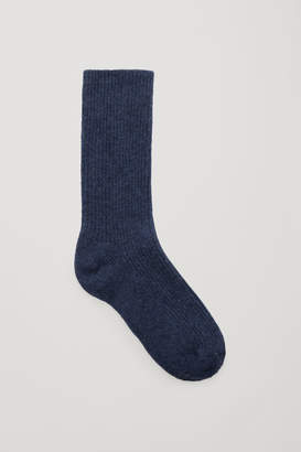 Cos RIBBED CASHMERE SOCKS