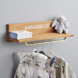 Pushka Home Personalised Wooden Oak Book Shelf