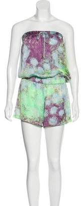 Alexis Printed Strapless Romper