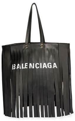 Balenciaga Laundry Cabas Satchel Bag with Fringe Detail