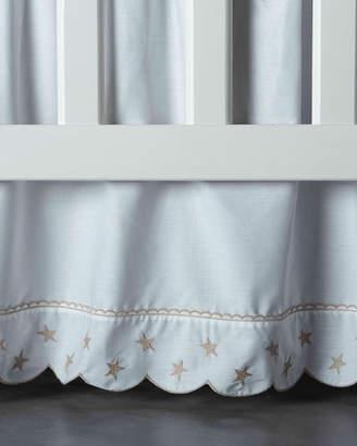 Bovi Fine Linens Twinkle Crib Dust Skirt, White/Taupe