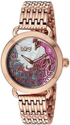 Burgi Women 's QuartzステンレススチールCasual Watch , Color :ローズgold-toned (モデル: bur174rg )