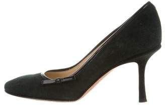 Jimmy Choo Pointed-Toe Suede Pumps