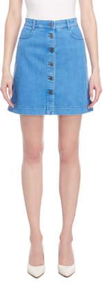 Stella McCartney Denim Button Mini Skirt