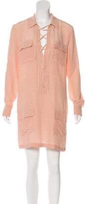 Equipment Silk Striped Dress