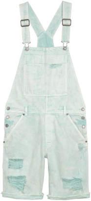 H&M Denim Bib Overall Shorts - Green