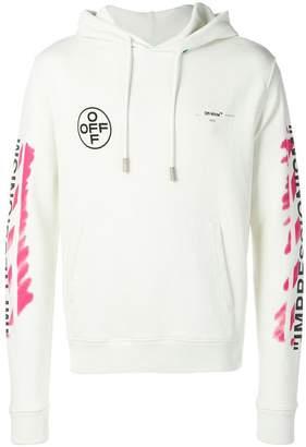 Off-White diag stencil slim hoodie