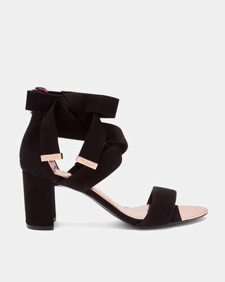 Ted Baker NOXEN2 Suede bow detail strappy sandals