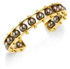 Lele Sadoughi Concrete Jungle Round C Slider Bracelet