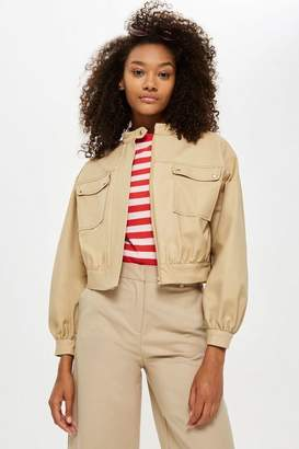 Topshop Petite Patch Pocket Crop Jacket