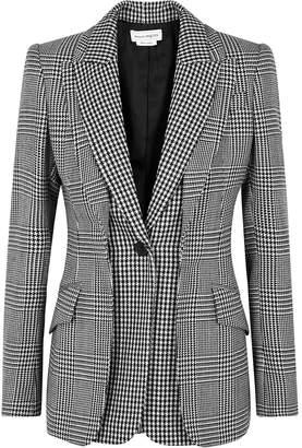 Alexander McQueen Layered Checked Wool Blazer