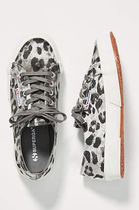 Superga Cheetah-Printed Velvet Sneakers