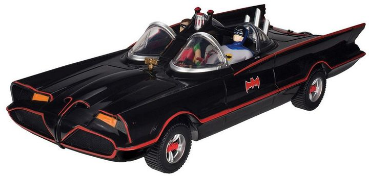 Toysmith DC Comics Batman Classic Batmobile with Bendable Batman & Robin Action Figures by Toysmith