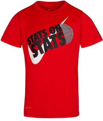 Nike Little Boys Dri-fit Stats Graphic-Print T-Shirt