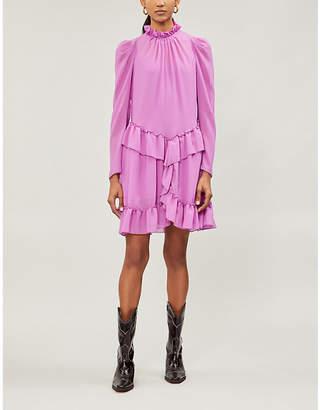 See by Chloe Ruffled-trim chiffon dress