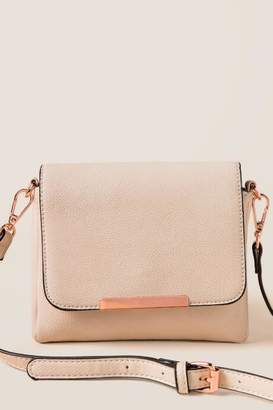 francesca's Bryleigh Mini Clutch Crossbody - Tan