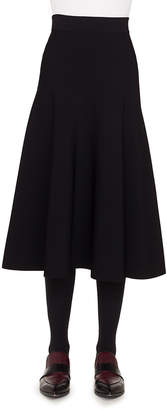 Akris Punto High-Waist Flared Knit Midi Skirt