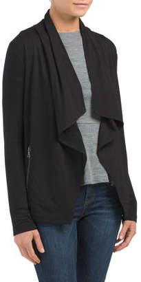 Cozy Cardigan With Zip Pockets