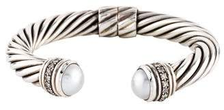 David Yurman Pearl & Diamond Cable Classics Cuff