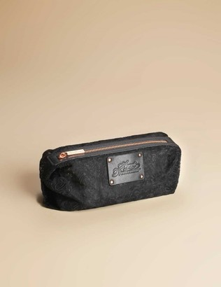 Small Lace Cosmetic Bag Black