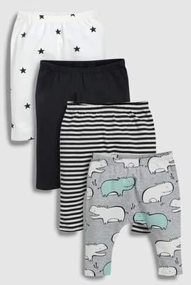 Next Boys Grey Hippo Leggings Four Pack (0mths-2yrs)