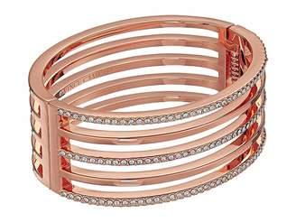 Vince Camuto Crystal Pave and Metal Hinge Bangle Bracelet