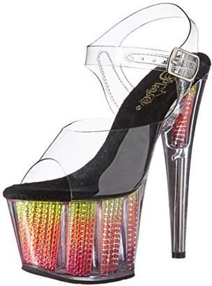 Pleaser USA Women's Ado708srs/c/nmc Platform Sandal,6 M US
