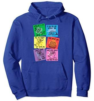 Disney Pixar Inside Out Valentine's Cards Graphic Hoodie