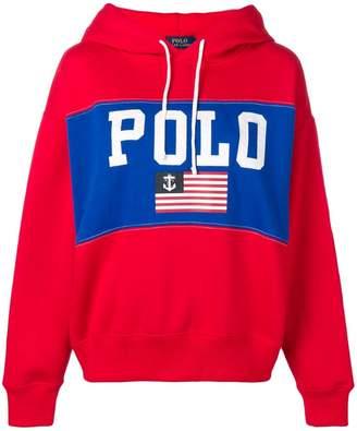 Polo Ralph Lauren flag print hoodie